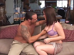 Kinky Katin mounts a massive piece of man meat and milks it dry