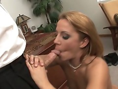 Inari Vachs works her hardest to make her man shoot a load on her tits