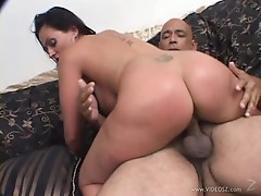 Sexy Ava Lauren rides her moist pussy on this hard dick
