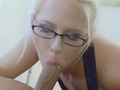 Carla Cox devours this dick - As a reward cock cream is spurted on her face