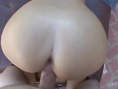 Great point of view outdoor doggy style before indoor head from Emma Heart