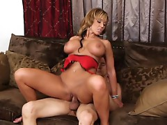 Naughty Nikki Sexxx is banged by a lucky pole