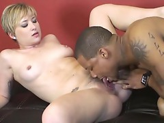 Nora Skyy's close encounter with a big black dick