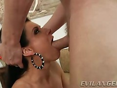 India Summers takes this hard dick down her throat