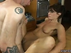 Young dude fucked friend's mom