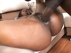 Stacy Adams welcomes a big black cock in her temple of cock doom