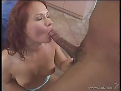 Alluring Katja Kassin loves slurping on this huge dick
