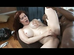 Mae Victoria takes a pussy pounding before getting her tits painted white