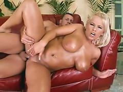 Lucy Love  gets them famous curves oiled up before she is fucked