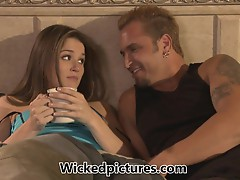 Tori Black fits in a saucy quickie before work