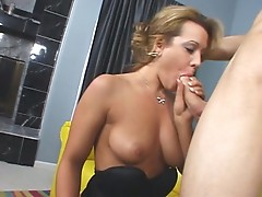 Ashley Sweet gets her mouth around a dick and leaves it shining
