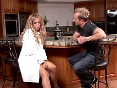 Capri Cavalli heats up the kitchen with her menu and pussy juice