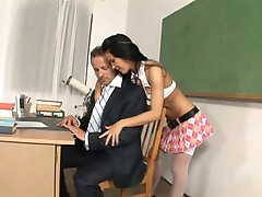 Amabella is tortured by her teacher's trouser snake