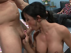 Jewels gets a stuffing in front of her husband