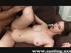 Casting shy girl with a sexy tight bush