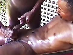 Gay ebony men cock massage