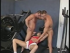 Hot Brunette Tries to Workout But Instead Bangs TWO Hardbodies! Maybe I Should Join a Gym!