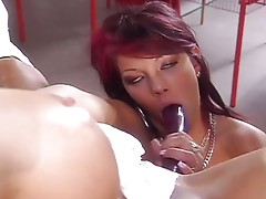 Horny girls playing and licking