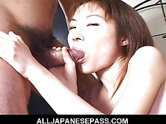 Sweet Japanese model has her pussy pounded