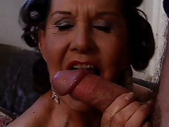 Hot granny anal fucking and sucking