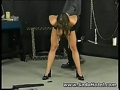 Sexy mature girl getting punished
