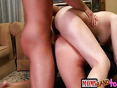 Mom shows daughter how to fuck