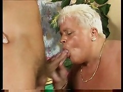 Mature chubby lady gets fat pussy fisted and fucked then sucks dick in heat