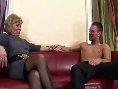 Lavish creampie in mom asshole