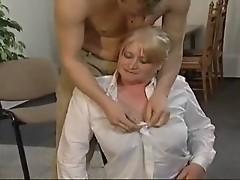 Big Jugged Blond Mom