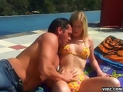 Gorgeous young blonde makes most of her time