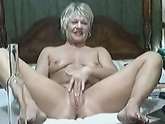 Stolen video of my kinky mom playing on web cam