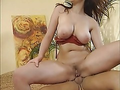 Busty girl in boots gets in in her ass - german
