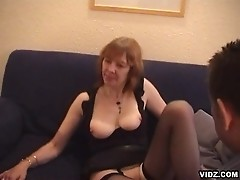 Skinny old granny hungry for raging fat cock