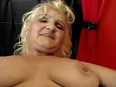 Granny fucked in a swing