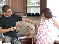Granny Fucked on the Kitchen Table