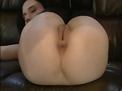 Russian brunette with big boobs has dirty fuck