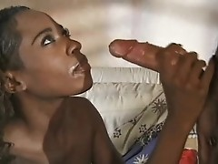 pretty Black girl nice nips hj a nice  cock, she is hot