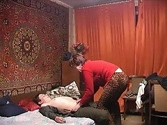 The Russian woman and young person on secret to apartment. Epizod # 1.