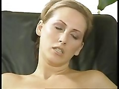 Anal threesome in the office