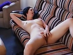 girl overhears sister fucking in next room and masturbates
