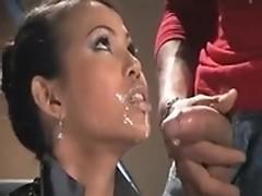 Asian newsreader gets her beautiful face cummed
