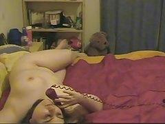 Chubby Girl Masturbating At Phone