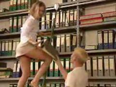 Hot German Librarian Gets Fucked