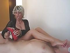 German Lady B masturbates in Berlin hotelroom (filmed by his wife)