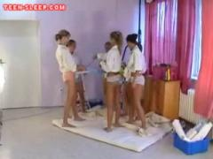 Horny Teen Sleep Over