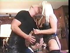 Femdom Sodomizes Sissy doggy style with Boyfriend