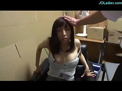 Office Lady In Pantyhose Getting Her Pussy Fingered And Licked In The Storage Room