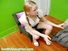Slutty Blonde Daughter Pimped