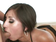 Sexy Alexis Breeze gets her throat stuffed with cock