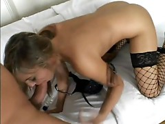 Cock hungry Lexi Love gobbles down a hard cock